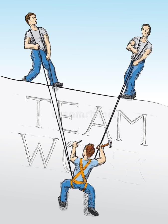 Trabalhos de equipa (vetor) ilustração stock