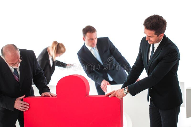 Trabalhos de equipe do negócio e solução do problema imagens de stock royalty free