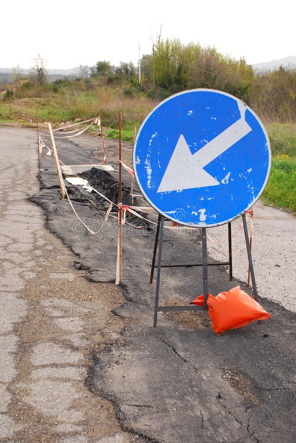 Trabalhos de estrada foto de stock