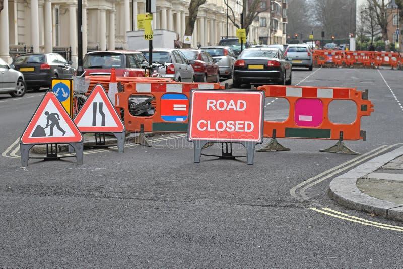 Trabalhos de estrada Londres fotos de stock