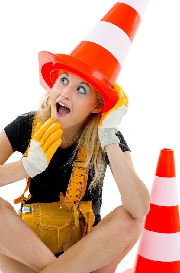Trabalhos de estrada terminados. imagens de stock