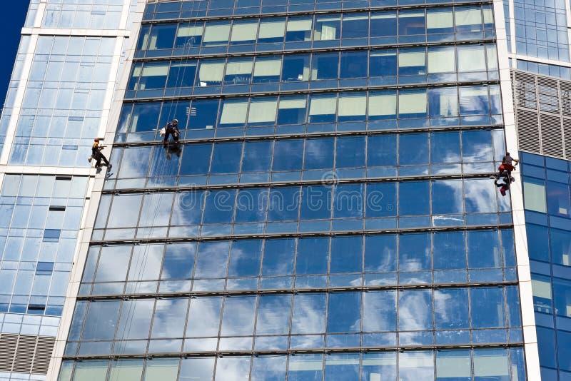 Trabalhos do arranha-céus imagem de stock royalty free