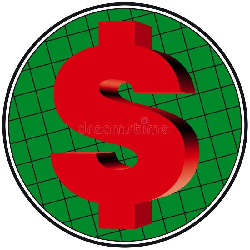 Download Trabalhos do dólar 3D ilustração do vetor. Ilustração de grade - 100824