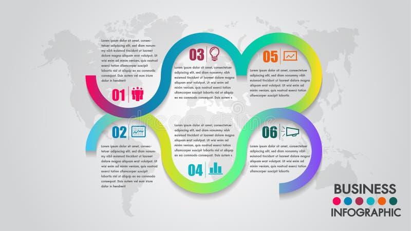 Trabalhos do molde do projeto do espaço temporal do infographics do negócio do vetor ou trabalho da equipe, fundo integrado dos c ilustração royalty free