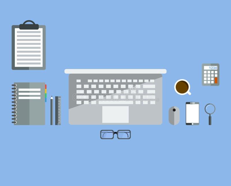 Trabalhos do programador ou do codificador para a codificação do Web site e a programação do HTML da aplicação web Estilo liso do ilustração royalty free