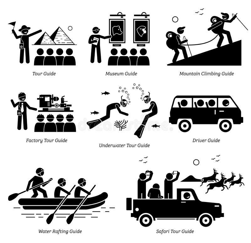 Trabalhos e carreiras do guia ilustração royalty free