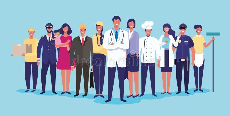 Trabalhos e profiss?es ilustração do vetor