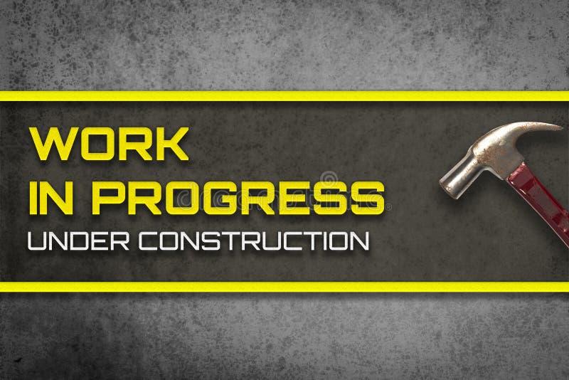 Trabalhos em curso sob o página da web da construção fotografia de stock royalty free