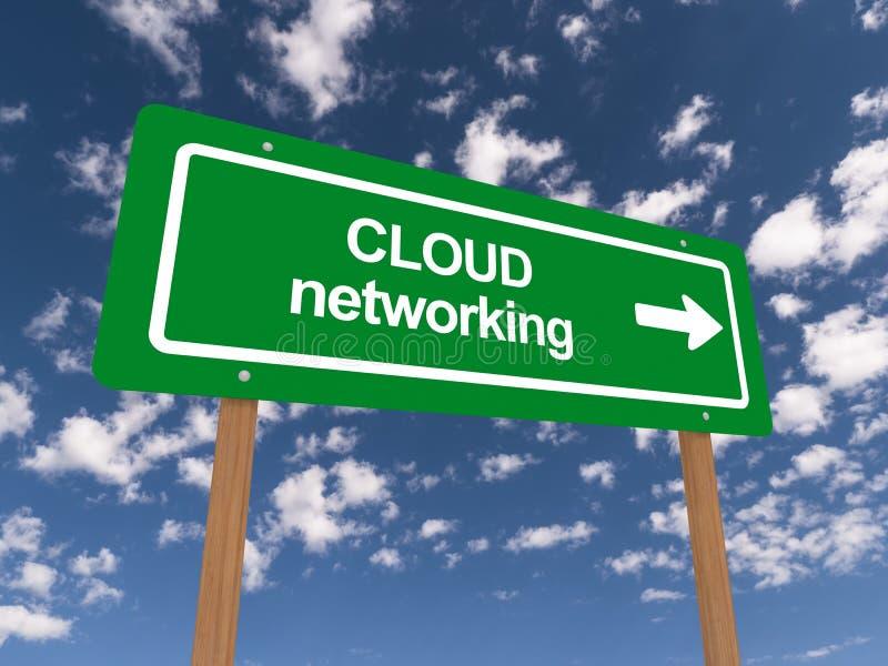 Trabalhos em rede da nuvem ilustração stock