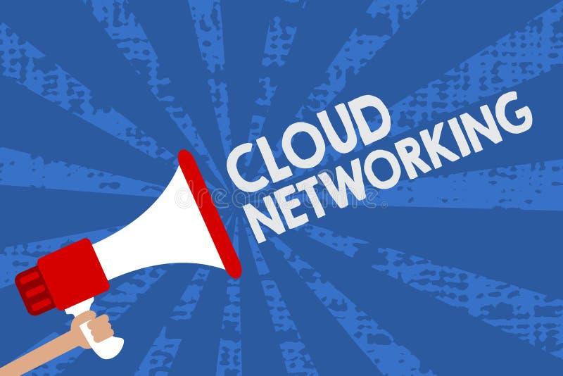 Trabalhos em rede da nuvem do texto da escrita O significado do conceito é termo que descreve o acesso do homem dos recursos dos  ilustração do vetor