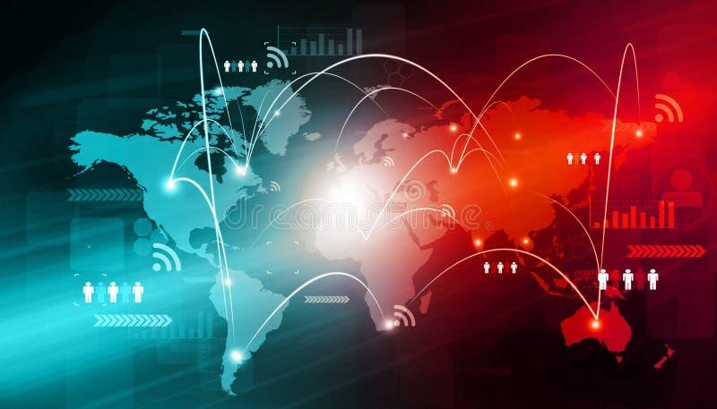 Trabalhos em rede globais do negócio ilustração royalty free