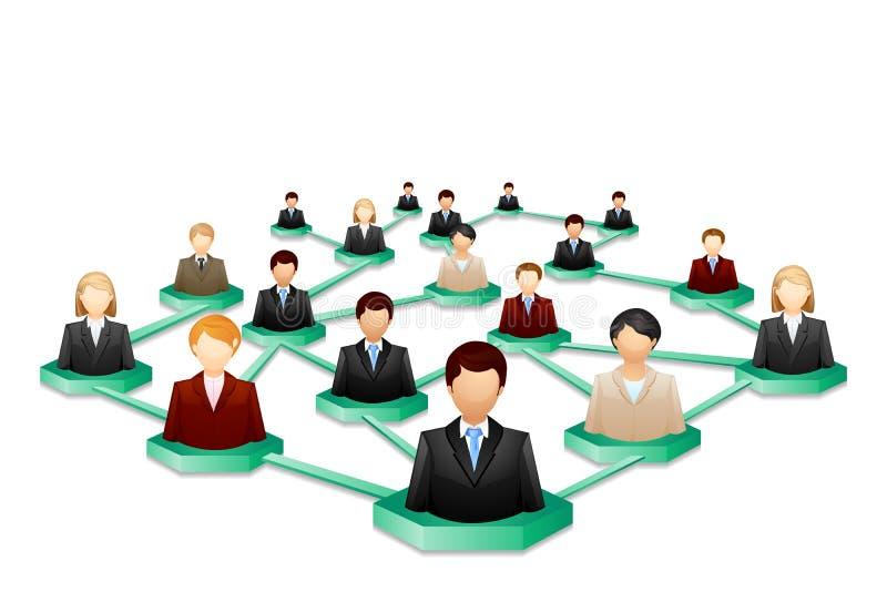 Trabalhos em rede humanos sociais ilustração do vetor