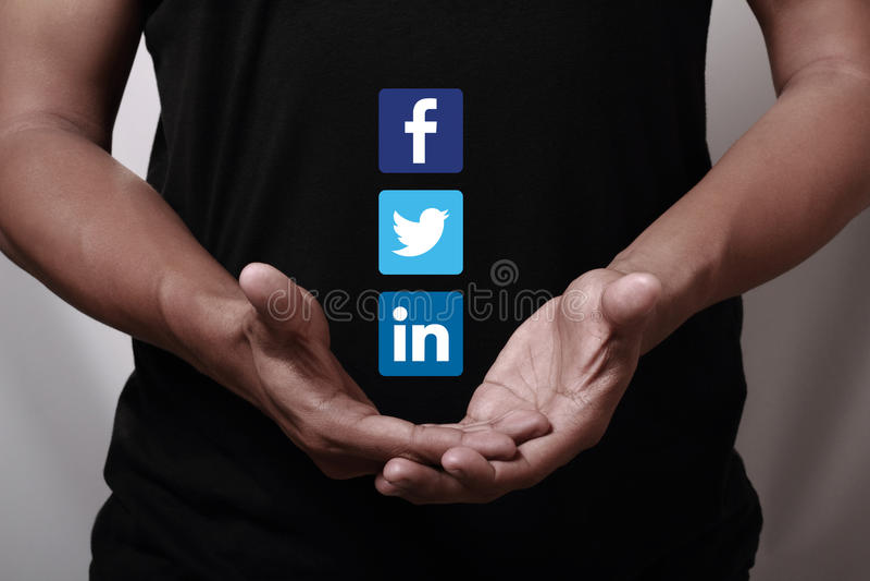 Trabalhos em rede sociais imagem de stock royalty free