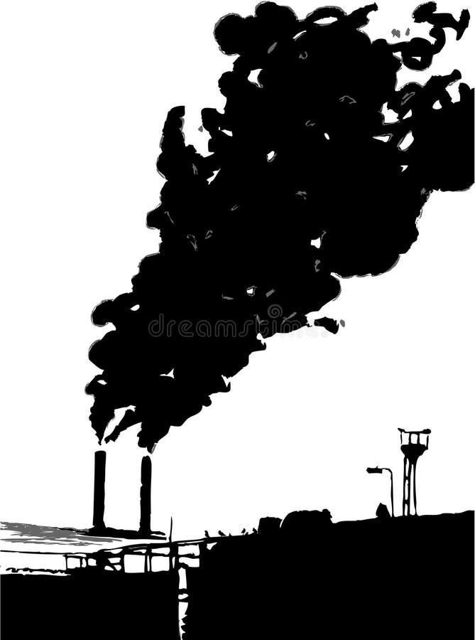 Trabalhos industriais ilustração stock