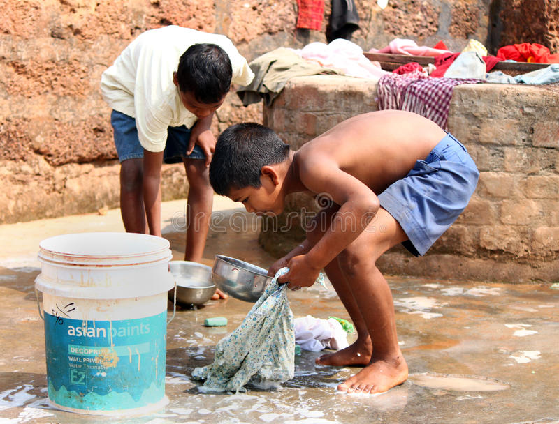 Trabalhos infanteis em India fotos de stock royalty free