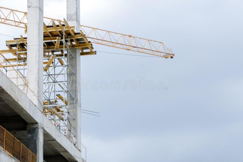 Trabalhos na construção fotografia de stock