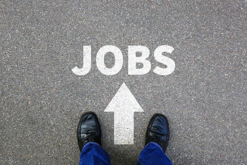 Trabalhos, procura de emprego que procura o busin de trabalho do homem de negócios do recrutamento fotografia de stock royalty free