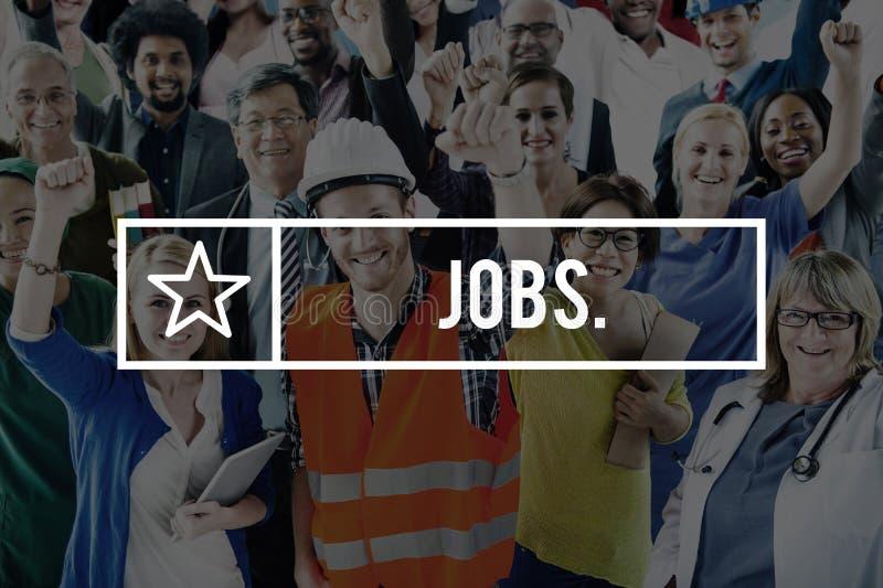 Trabalhos que contratam o conceito do emprego das carreiras do emprego imagens de stock royalty free