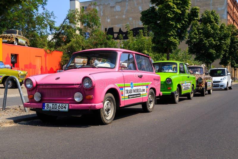 Trabant автомобили стоковое изображение rf