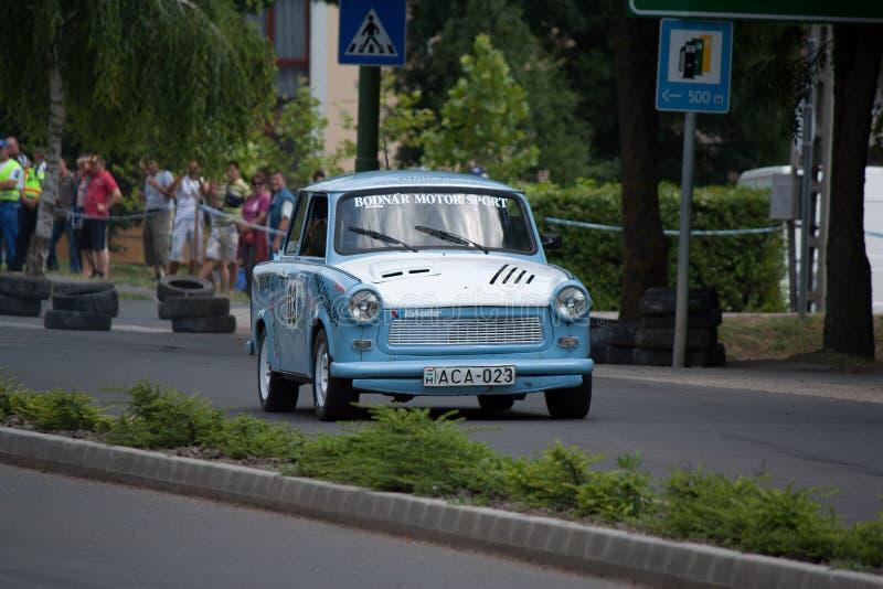 Trabant 1 1 гоночный автомобиль ралли стоковое изображение rf
