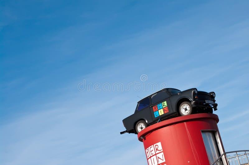 Trabant - símbolo de Berlim do leste fotografia de stock royalty free