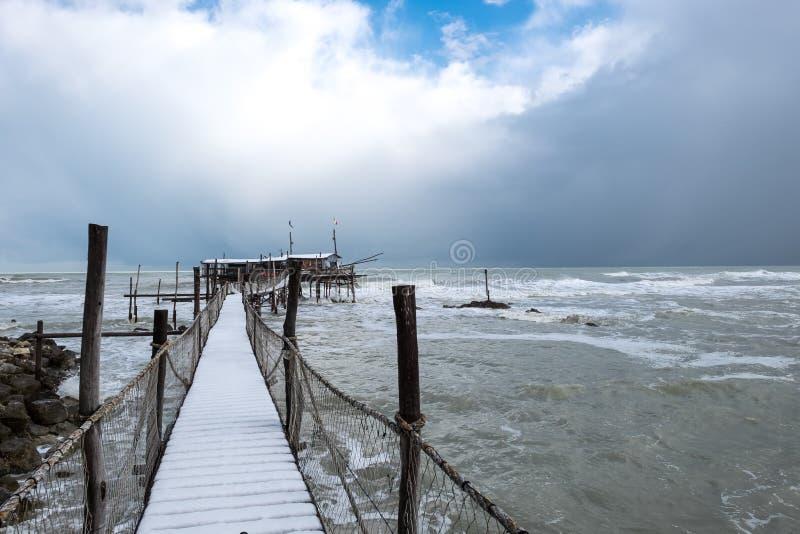 Trabocchi的海岸 库存照片