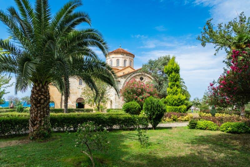 The church of Hagia Sophia in Trabzon, Turkey. stock image