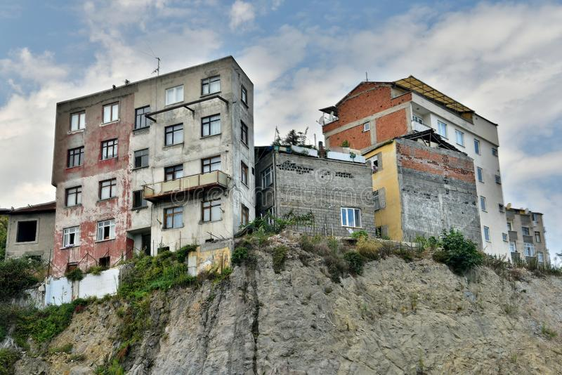 Residential buildings in Trabzon, Turkey stock photos