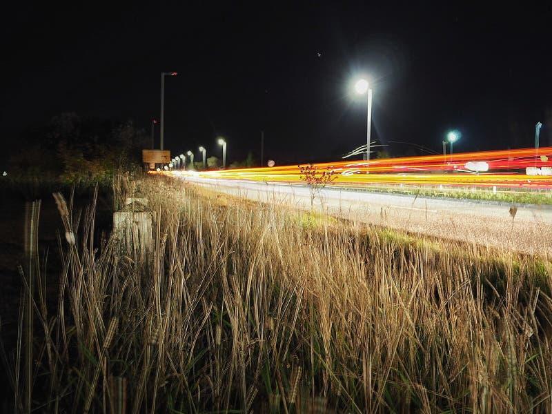 Tracce della luce da Poole fotografia stock libera da diritti