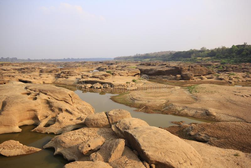 Tracce di rocce erose acqua immagine stock