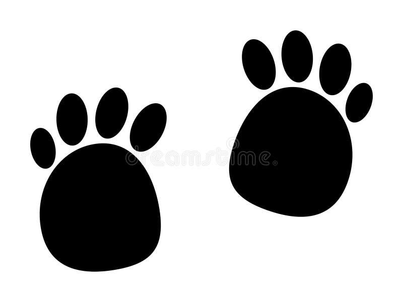Tracce nere misteriose di animale sconosciuto royalty illustrazione gratis