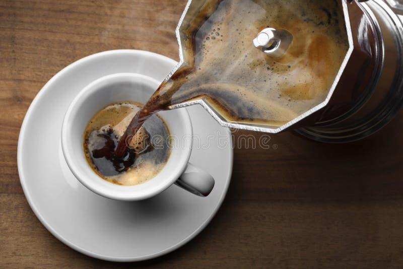 Tracción de un tiro del café express fotos de archivo libres de regalías
