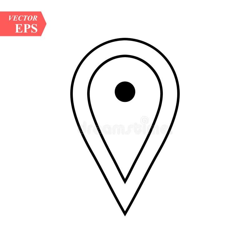 Tracci l'icona piana del puntatore, stile piano di progettazione dell'illustrazione di riserva di vettore illustrazione vettoriale