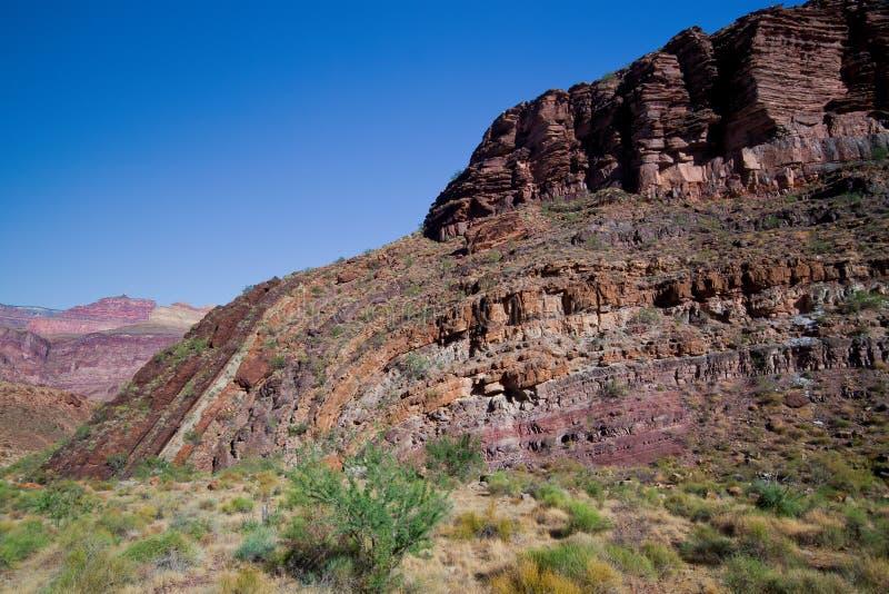 Traccia bassa di AZ-Grande Orlo-Sud di Canyon-Sud fotografie stock libere da diritti