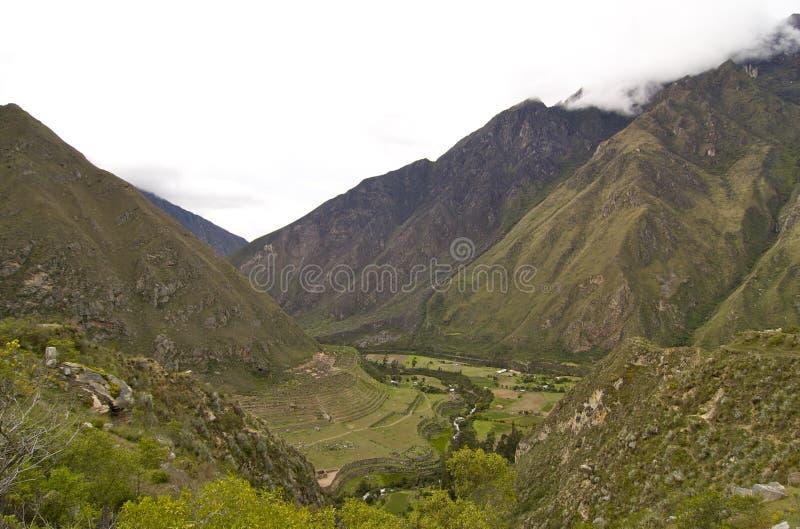 Traccia del Inca di Machu Picchu - Llaqtapata fotografia stock libera da diritti