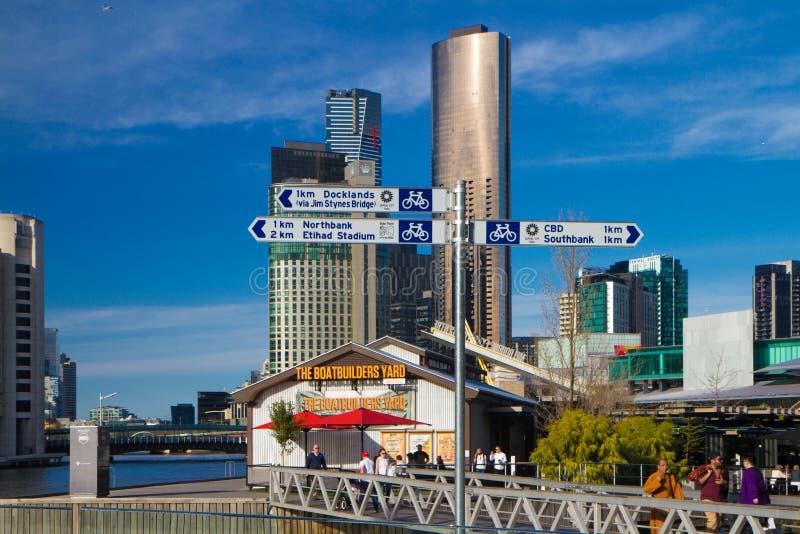 Traccia del sud della capitale del molo di Melbourne fotografia stock libera da diritti