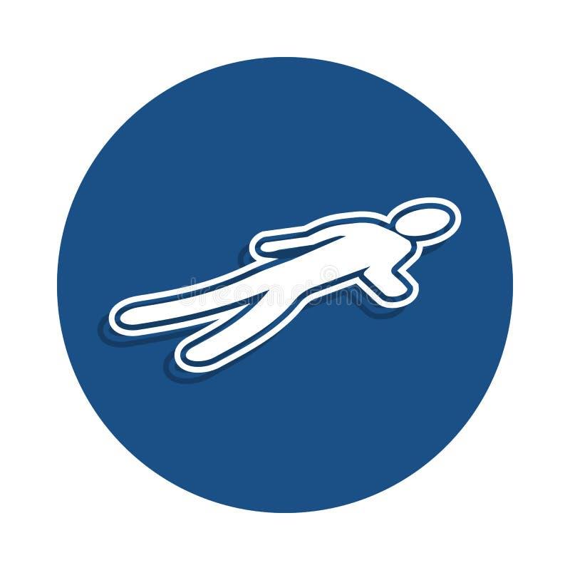 traccia dell'icona di omicidio nello stile del distintivo Uno dell'icona della raccolta della polizia può essere usato per UI, UX royalty illustrazione gratis