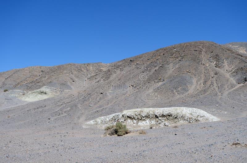 Traccia dell'insenatura del sale nel parco nazionale di Death Valley, CA, U.S.A. immagine stock