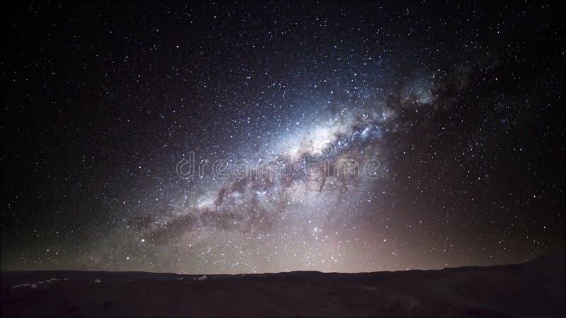 Traccia della stella nel deserto di Atacama Cile immagine stock libera da diritti