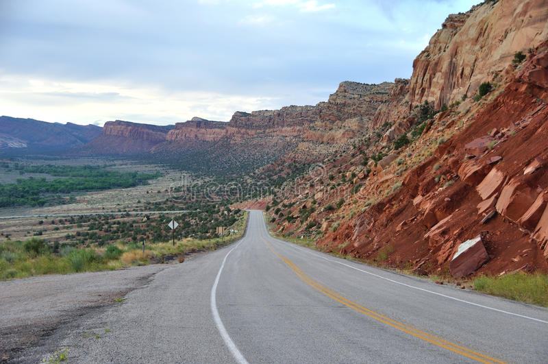 Traccia della strada dei Ancients - Utah fotografia stock