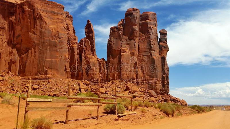 Traccia della valle del monumento immagine stock libera da diritti