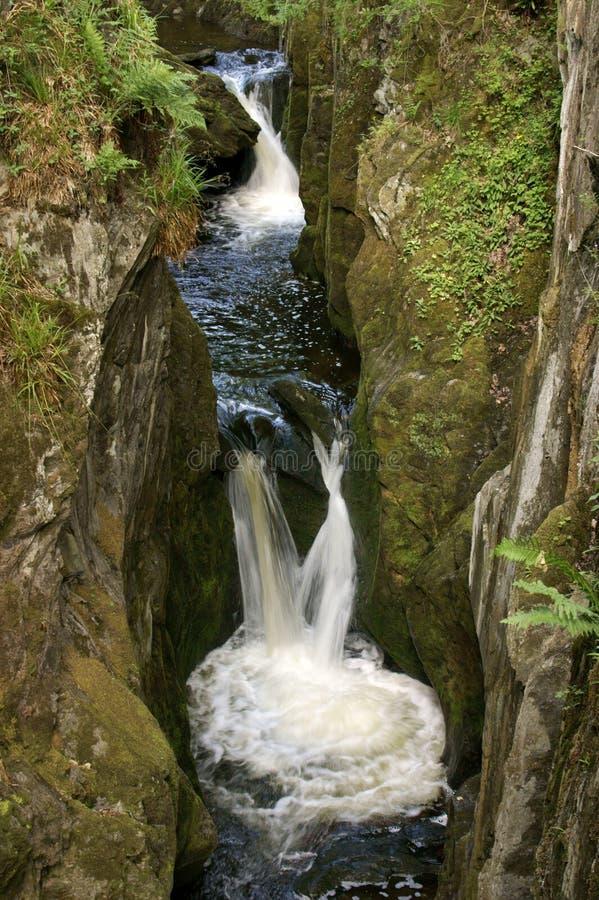 Traccia delle cascate di Ingleton fotografia stock libera da diritti
