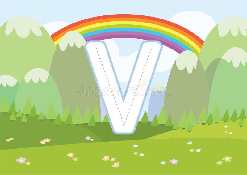 Traccia di ABC & A-Z di rintracciamento dei fogli di lavoro di Printables dei fogli di lavoro di alfabeto di colore nei bambini p illustrazione vettoriale