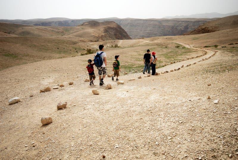Traccia di avventura nel deserto immagine stock