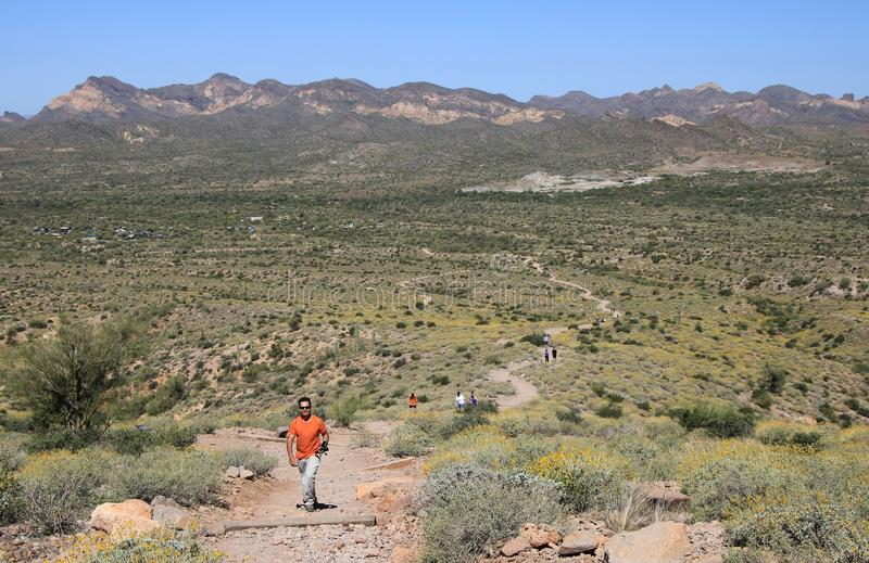 Traccia di escursione del deserto immagine stock libera da diritti
