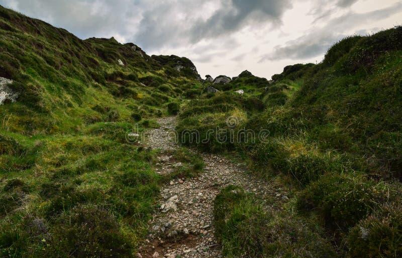 Traccia di escursione sull'isola di Iona fotografia stock libera da diritti