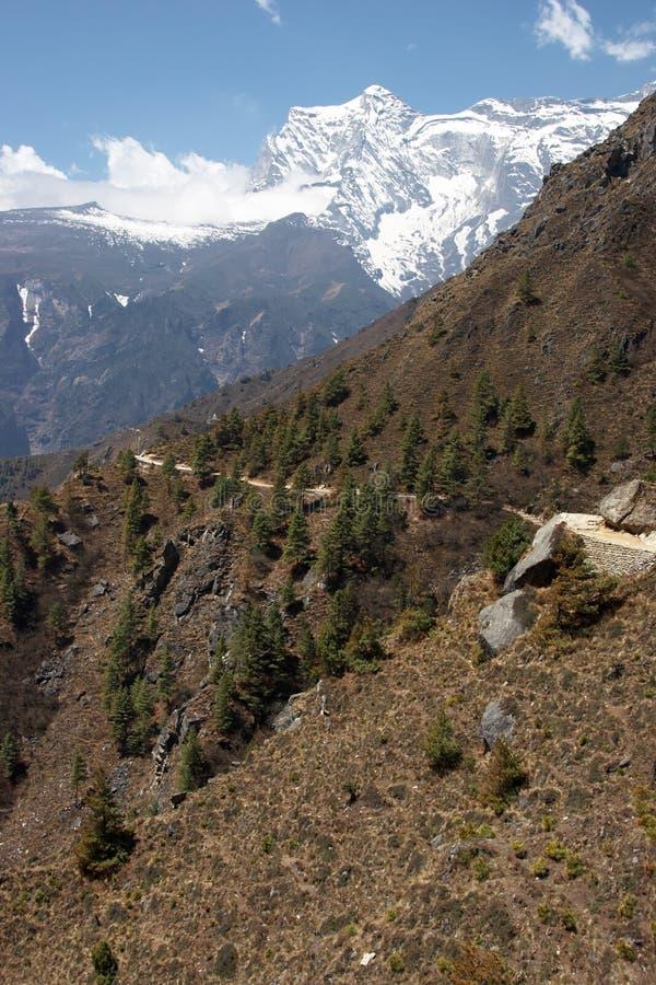 Traccia di montagna in Himalaya, Nepal