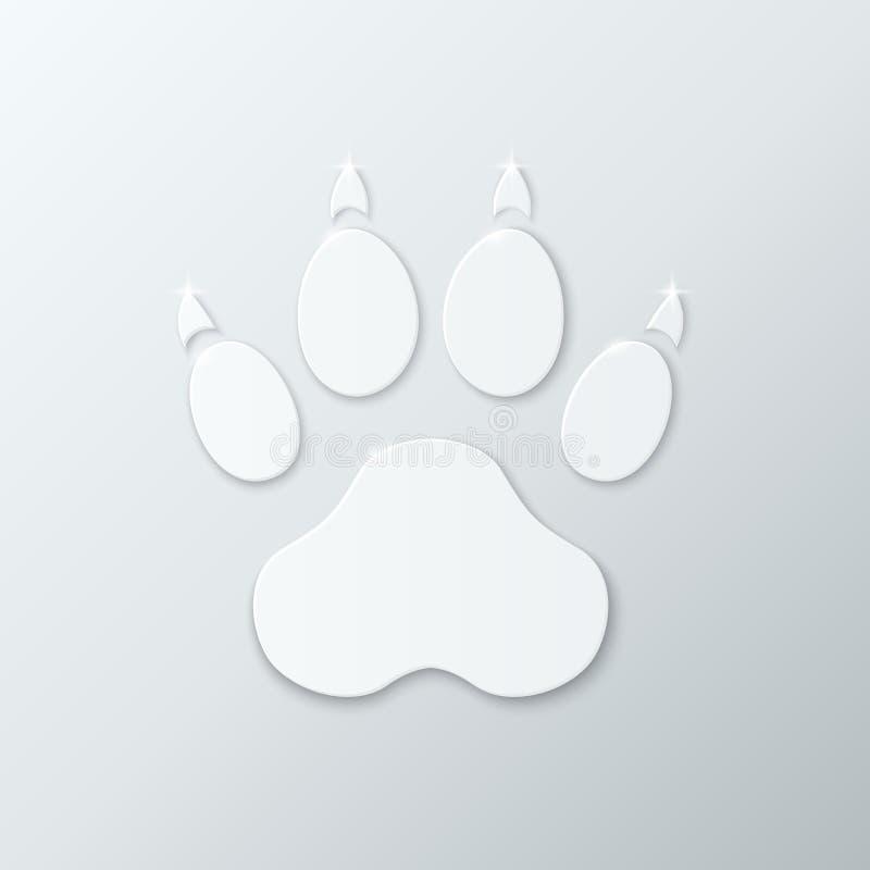 Traccia di plastica brillante di cane. illustrazione di stock