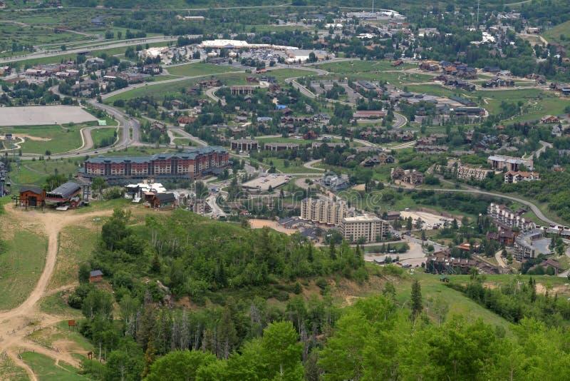Traccia di Thunderhead, Steamboat Springs, Colorado fotografia stock