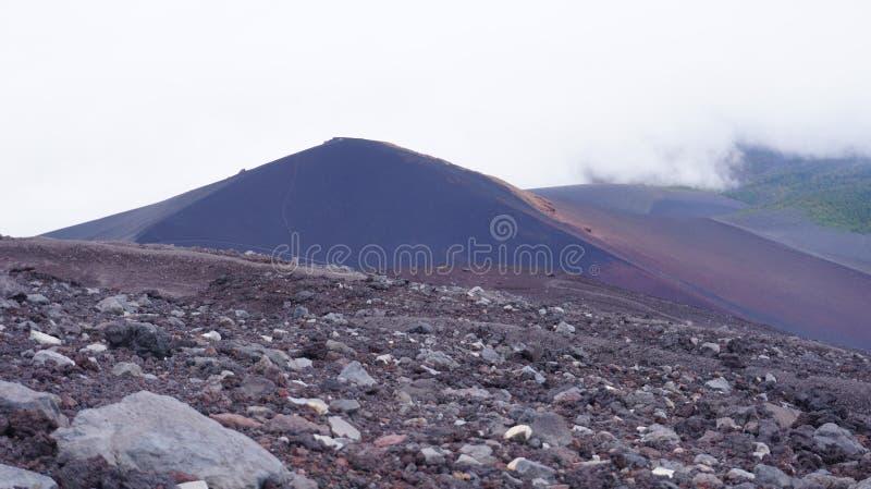 Traccia di trekking della montagna di Fuji fotografia stock libera da diritti